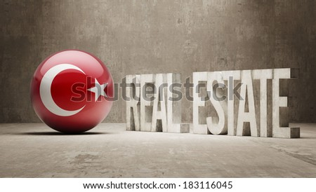 Turkey High Resolution Real Estate Concept - stock photo