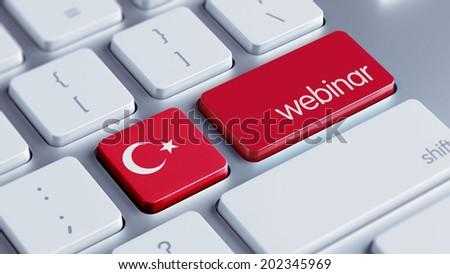 Turkey High Resolution Webinar Concept - stock photo
