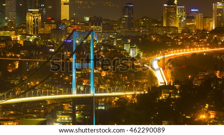 "TURKEY - ISTANBUL ; 15 JULY 2016 , The name of the Bosphorus Bridge ""15 July Martyrs Bridge"" ""has been changed."