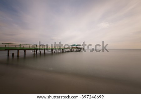 TURKEY-ISTANBUL, 27 MARCH 2016; Buyukcekmece coast, mimarsinan bridge and pier..