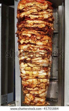Turkey, Istanbul, turkish kebab - stock photo