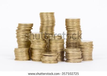 turkey lira coins - stock photo