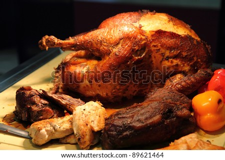 turkey meat - stock photo