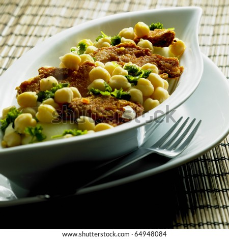 turkey mini steaks with chick peas