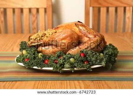 Turkey on table - stock photo