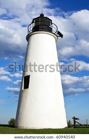 Turkey Point Lighthouse,Chesapeake Bay,Maryland,USA - stock photo