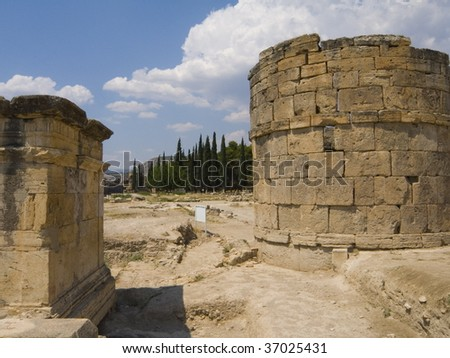 Turkey. Remains of ancient Greek town - Hierapolis