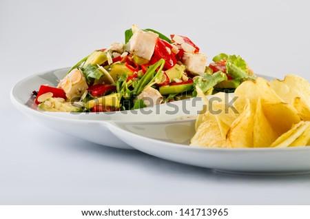 Turkey salad - stock photo