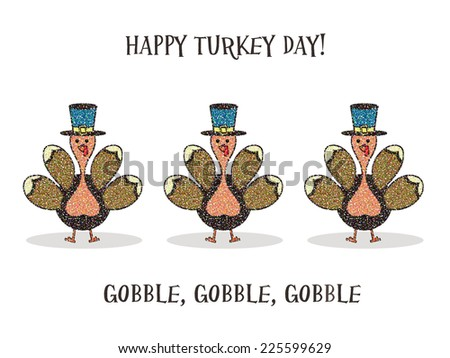 Turkeys - stock photo