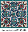 Turkish artistic wall tile - stock photo