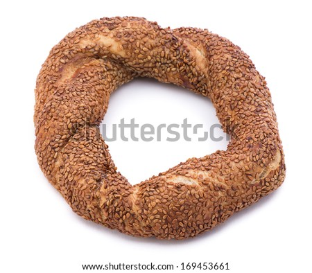 Turkish Bagel called simit consumed by big majority of local people - stock photo