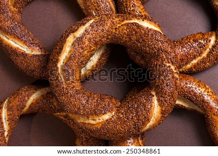 Turkish bagel (simit) - stock photo