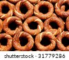 Turkish Bagels as background - stock photo