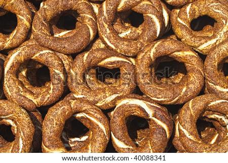 Turkish Bagels - Simit - stock photo