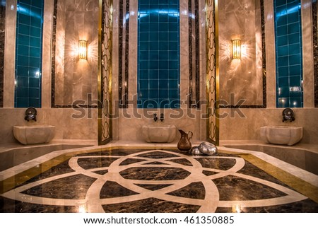 Turkish bath interior