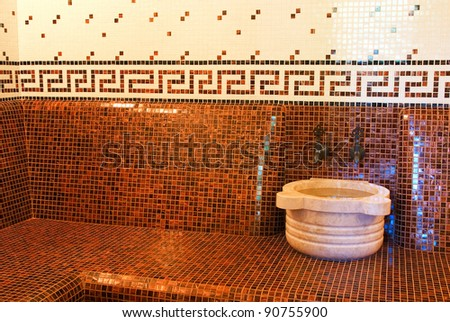 Turkish bath with ceramic tile - stock photo