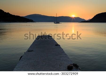 Turkish dawn - stock photo