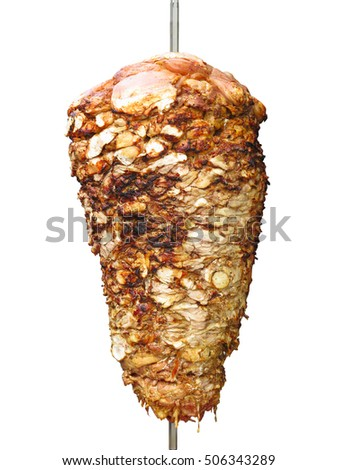 Turkish donner kebab isolated over white background