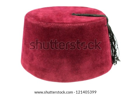 Turkish fez, traditional ottoman hat - stock photo