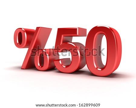 Turkish fifty percent - stock photo