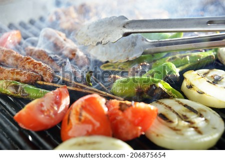 Turkish food, BBQ, photography
