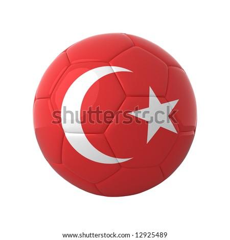 Turkish football for europe's championship. - stock photo