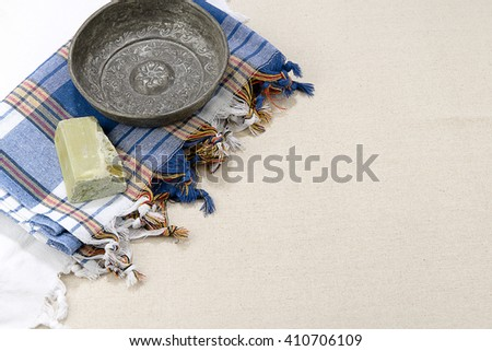 Turkish Hamam Concept with Copy Space - stock photo