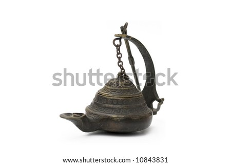 turkish lamp isolated on white - stock photo