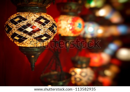 Turkish light with nice blured background - stock photo
