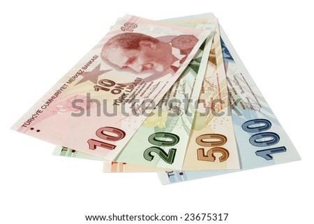 turkish lira - stock photo