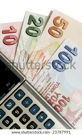 turkish lira and calculator