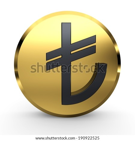Turkish Lira Sign. TL Symbol. Turkish Money. - stock photo