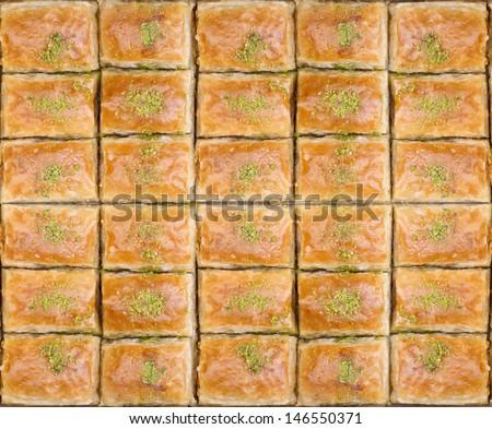 Turkish Pahlava Textured - stock photo