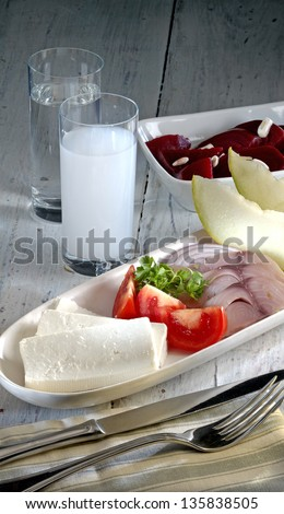 turkish raki - stock photo