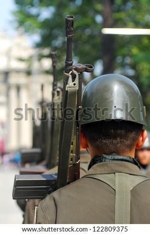 Turkish soldiers - stock photo