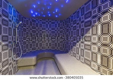 Turkish steam bath interior - stock photo