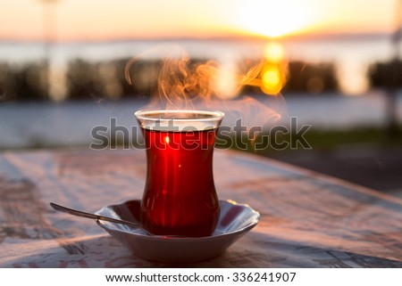 stock-photo-turkish-tea-with-reverse-lig