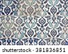 Turkish Tile Design From New Mosque, Istanbul, Turkey - stock photo