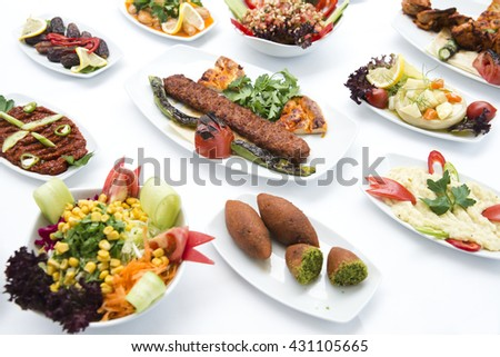 Turkish traditional kebabs