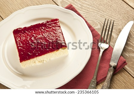 Turkish Traditional Trilece Dairy Dessert Cake - stock photo