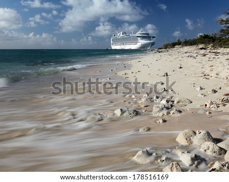 Turks and Caicos beach   - stock photo