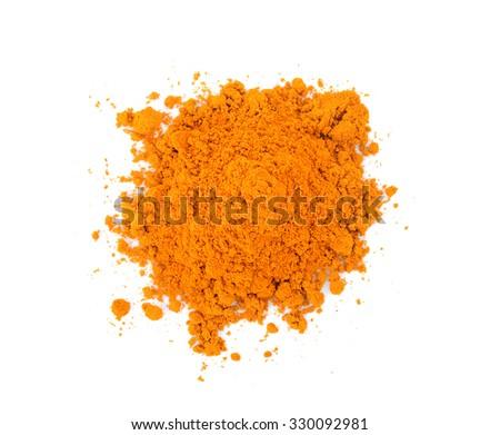 turmeric on white background - stock photo