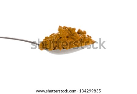 Turmeric paste used in cooking, in herbal medicine as an anti-inflammatory and in skin care - stock photo