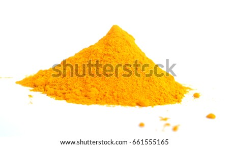 Turmeric Powder Isolated