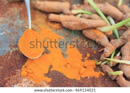 Turmeric powder with sprout