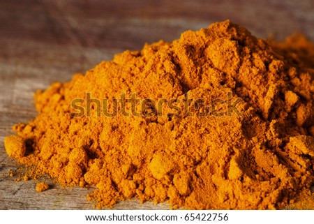 turmeric spice - stock photo