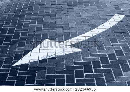 Turn direction of arrow on ground