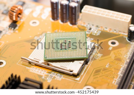 turn face up cpu - stock photo