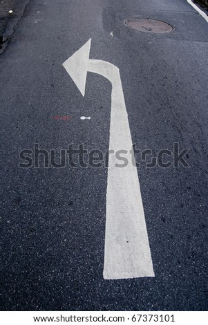 turn left road sign - stock photo