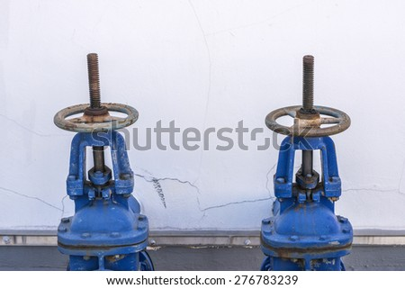 Turn off and Turn on the water pipeline - stock photo